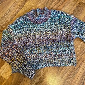 Multi Coloured Crop Sweater